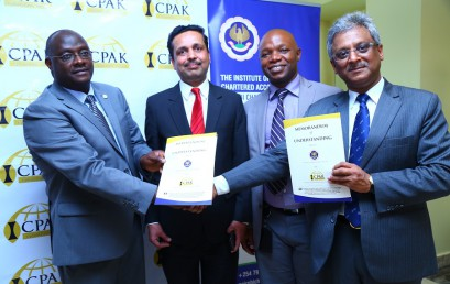 ICPAK Signs MoU with ICAI