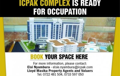 ICPAK Complex Is Ready For Occupation