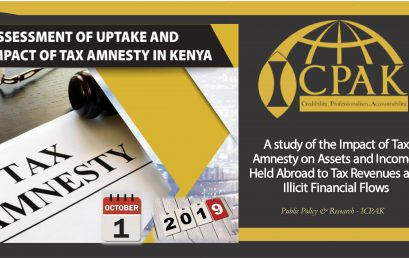 ASSESSMENT OF UPTAKE AND IMPACT OF TAX AMNESTY IN KENYA