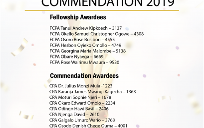 AWARD OF FELLOWSHIP COMMENDATION 2019