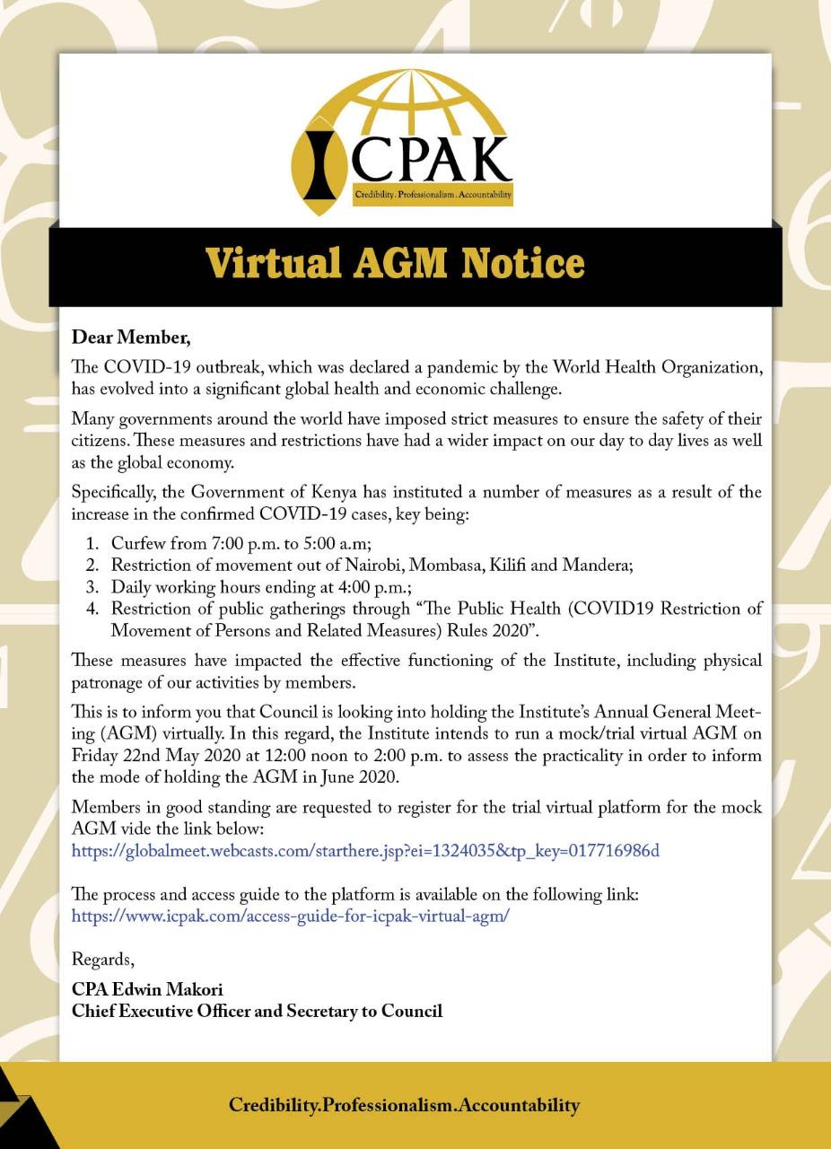 Virtual AGM Notice