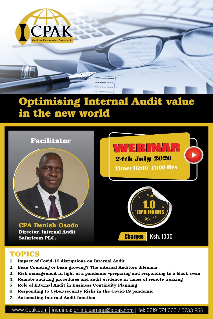 Optimising Internal Audit Value in the New World-(RECORDING)