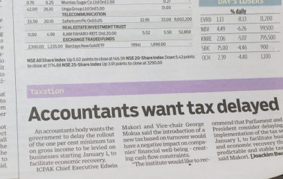 Accountants want tax delayed