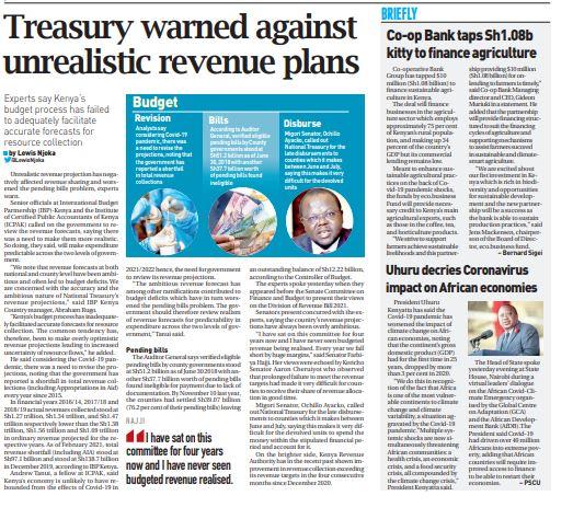 Treasury warned against unrealistic revenue plans